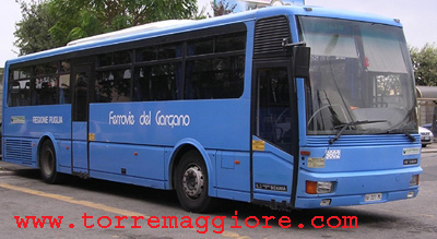 Autobus di linea delle Ferrovie del Gargano