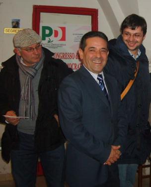 Michele Tartaglia con il Sindaco Vincenzo Ciancio e il Capogruppo PD Enzo Quaranta