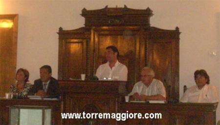 La Giunta Ciancio con il Presidente del Consiglio Valerio Zifaro