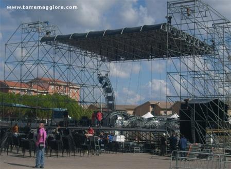 Palco del concerto live Pino Daniele Torremaggiore 9 ottobre 2010