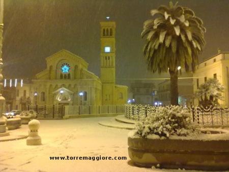 Santuario Maria SS.ma della Fontana Torremaggiore con la neve