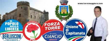 Partiti che appoggiano il Ciancio-bis nato il 31 maggio 2011 www.torremaggiore.com