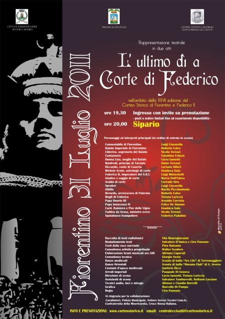 Programma L'ultimo dì a corte di Federico II - Torremaggiore 2011