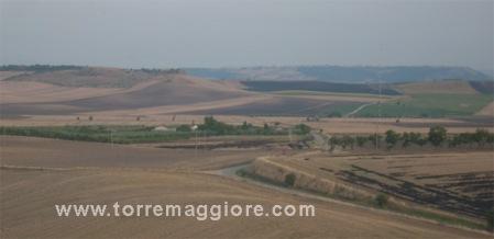 Veduta del Castello di Lucera dal Sito Archeologico di  Castel Fiorentino - Torremaggiore (FG) - www.torremaggiore.com -