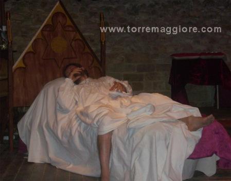 Agonia di Federico II - L'ultimo dì a Corte di Federico  -  Domus Area di  Castel Fiorentino - Torremaggiore (FG) - www.torremaggiore.com - 3 agosto 2011