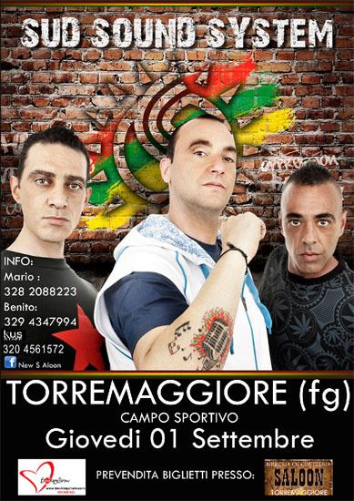 Concerto Sud Sound System il 1 settembre 2011 presso il Campo Sportivo di Torremaggiore (Fg)